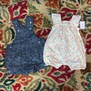 NWT & NWOT Baby GAP Rompers Overalls Lot 0-3 Month